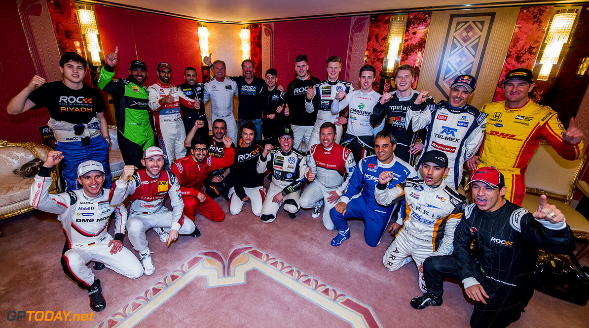 2018 Race of Champions, King Farhad Stadium, Riyadh, Saudi Arabi The drivers before the ROC Nations Cup on Friday 2 February 2018 at King Fahad Stadium, Riyadh, Saudi Arabia.