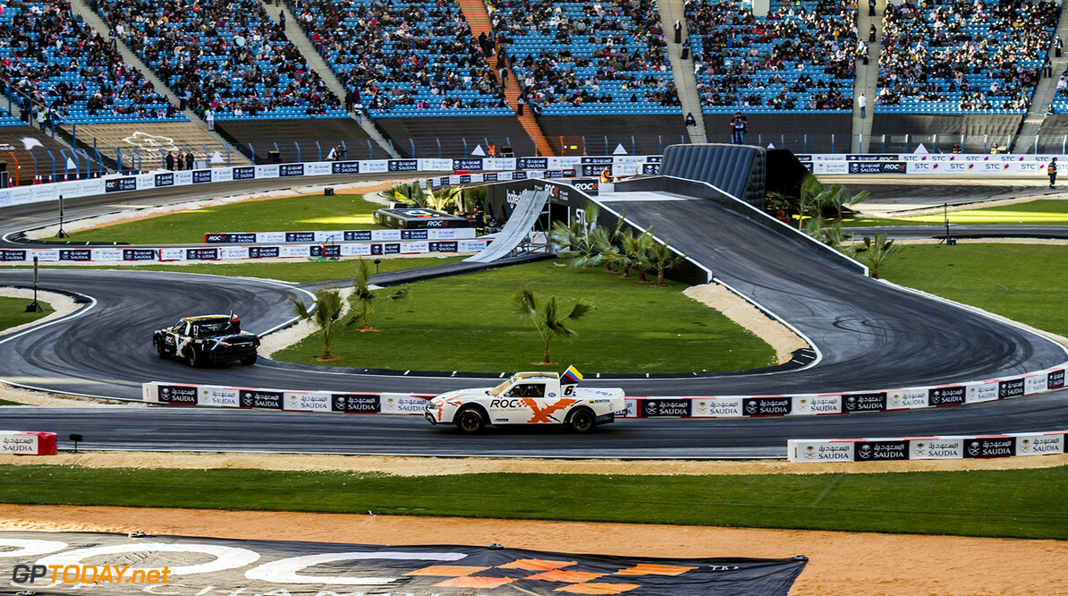 2018 Race of Champions, KIng Farhad Stadium, Riyadh, Saudi Arabi Juan-Pablo Montoya (COL) driving the Xtreme Pickup during the Race of Champions on Saturday 3 February 2018 at King Fahad Stadium, Riyadh, Saudi Arabia.