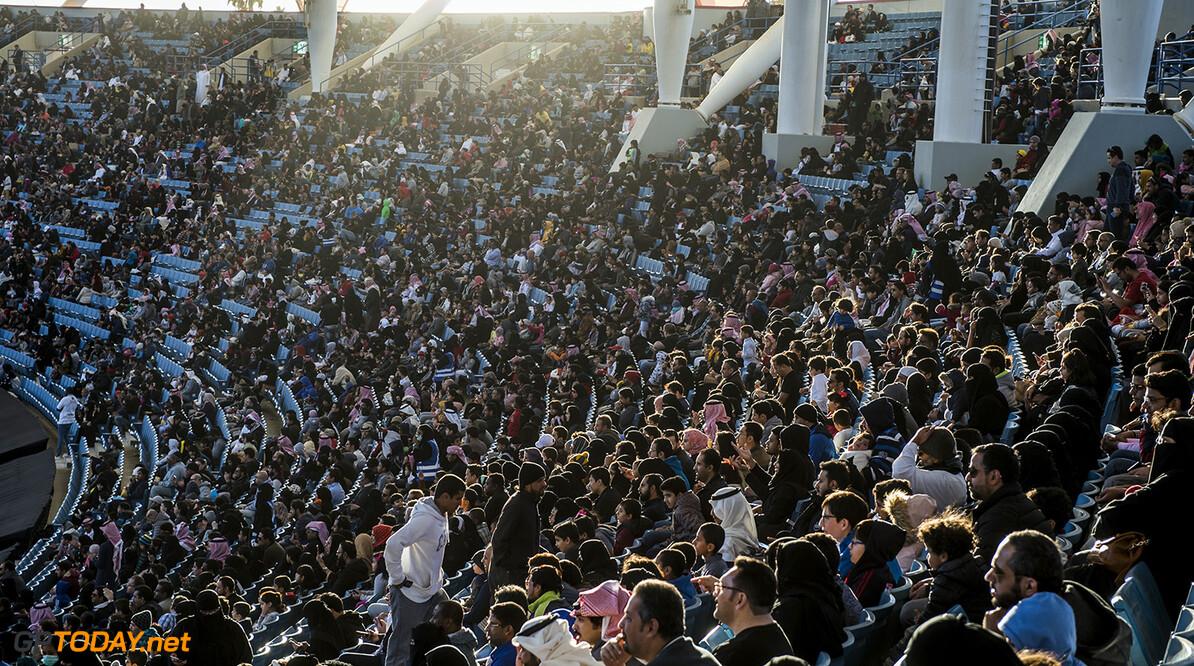 2018 Race of Champions, KIng Farhad Stadium, Riyadh, Saudi Arabi Fans watch the action during the Race of Champions on Saturday 3 February 2018 at King Fahad Stadium, Riyadh, Saudi Arabia.
