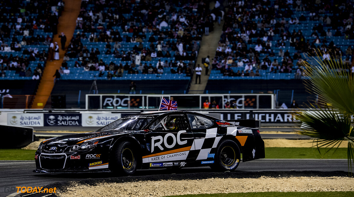 2018 Race of Champions, King Farhad Stadium, Riyadh, Saudi Arabi Lando Norris (GBR) of Team Great Britain driving the Whelen NASCAR during the ROC Nations Cup on Friday 2 February 2018 at King Fahad Stadium, Riyadh, Saudi Arabia.