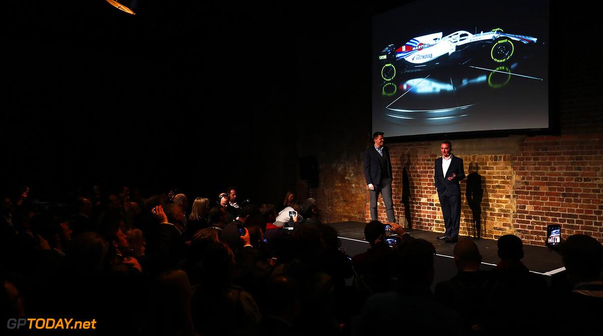 2018 Williams Season Launch. Shoreditch, London, United Kingdom. Thursday 15 February 2018. Paddy Lowe, onstage with the FW41 World Copyright: Sam Bloxham/LAT Images ref: Digital Image _W6I5426