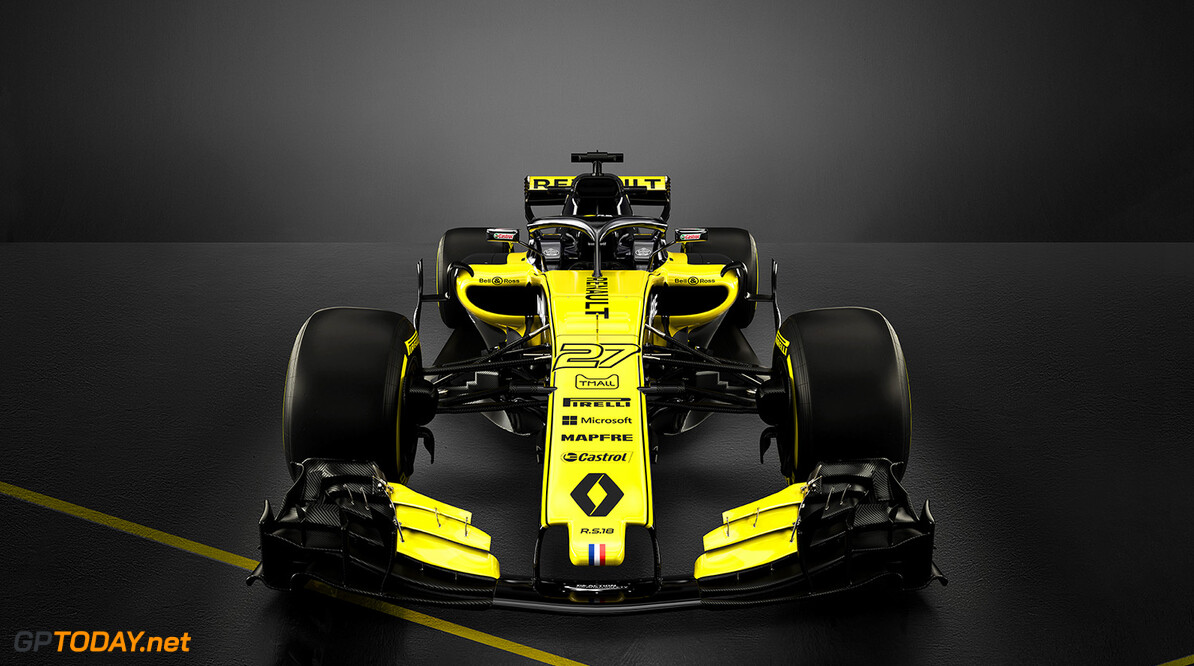 Formula One World Championship The Renault Sport F1 Team RS18. Renault Sport Formula One Team RS18 Launch, Enstone, England. Tuesday 20th February 2018. Motor Racing - Formula One Launch - Renault Sport Formula One Team R.S.18 Launch - London, England Renault Sport Racing Enstone England  Formula One Formula 1 F1 Launch Unveil Reveal England Great Britain UK GB United Kingdom JM798 R.S.18
