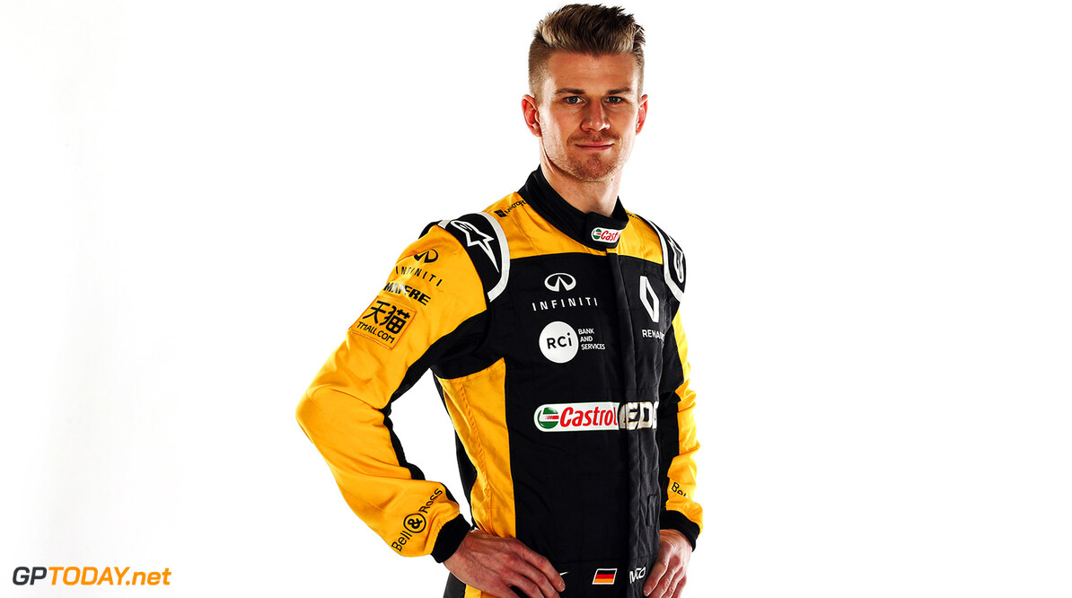 Formula One World Championship Nico Hulkenberg (GER) Renault Sport F1 Team. Renault Sport Formula One Team RS18 Launch, Enstone, England. Tuesday 20th February 2018. Motor Racing - Formula One Launch - Renault Sport Formula One Team R.S.18 Launch - London, England XPB / James Moy Photography Ltd. Enstone England  Formula One Formula 1 F1 Launch Unveil Reveal England Great Britain UK GB United Kingdom JM798 Studio Portraits HQ Headquarters Hulkenberg H?lkenberg Huelkenberg Portrait