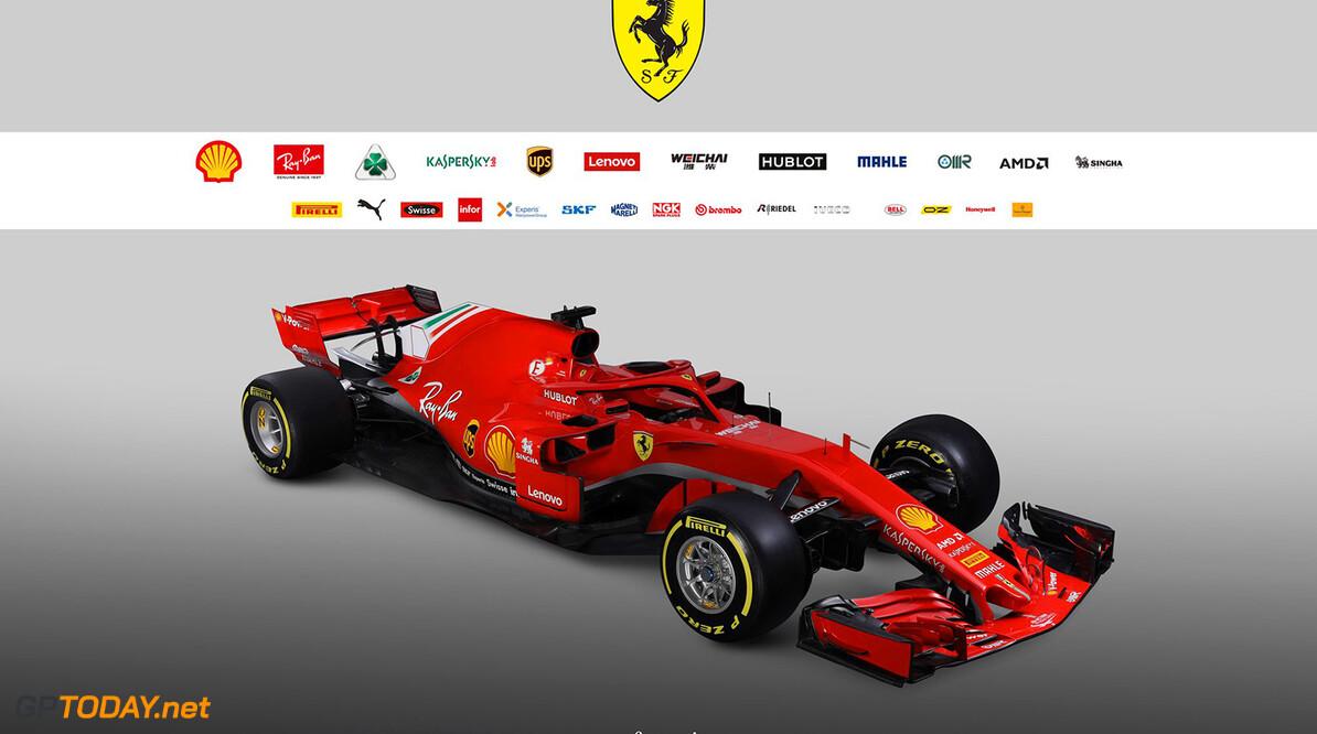 Ferrari presenteert bijna volledig rode SF71H