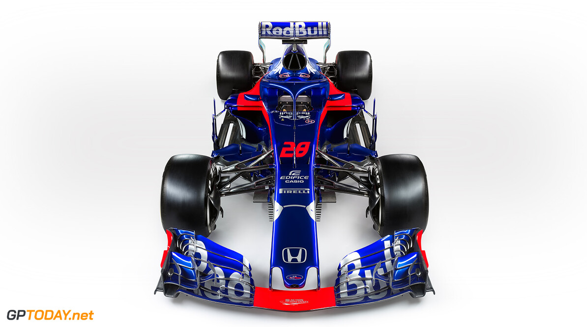 Brendon Hartley's Scuderia Toro Rosso STR13 (#28) seen during the 2018 studio shoot. // Guido De Bortoli / Red Bull Content Pool // AP-1UVMSQAZN1W11 // Usage for editorial use only // Please go to www.redbullcontentpool.com for further information. //  STR13 (#28)  Faenza Italy  AP-1UVMSQAZN1W11