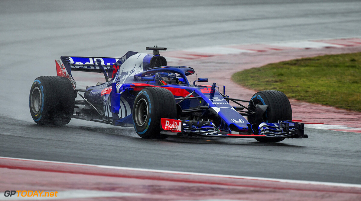 Brandon Hartley of New Zealand and Scuderia Toro Rosso performs during the filming day in Misano, Italy on February 21, 2017 // Samo Vidic/Red Bull Content Pool // AP-1UVM75ZQ11W11 // Usage for editorial use only // Please go to www.redbullcontentpool.com for further information. //  Brandon Hartley  Misano Adriatico Italy  AP-1UVM75ZQ11W11