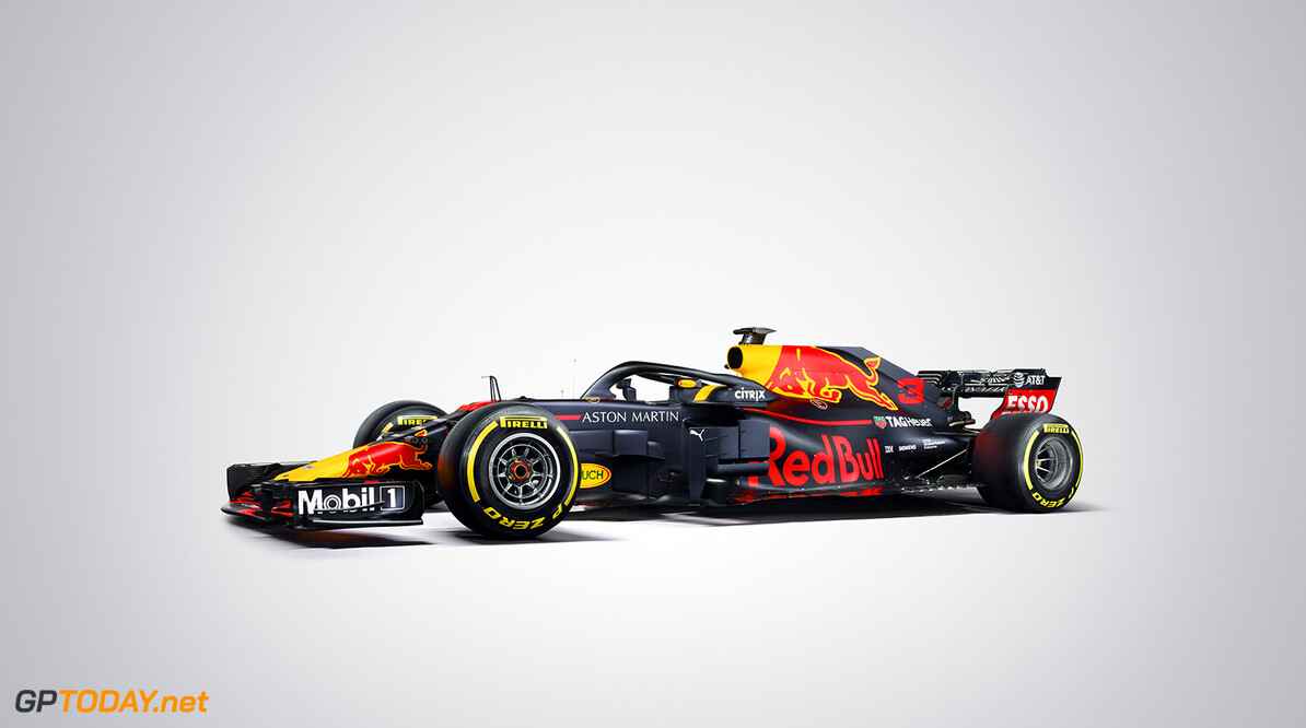 Daniel Ricciardo's (#3) Aston Martin Red Bull Racing TAG-Heuer RB14 seen during the 2018 studio shoot. // David Clerihew/Red Bull Content Pool // AP-1UVT14W411W11 // Usage for editorial use only // Please go to www.redbullcontentpool.com for further information. //  RB14 (#3)     AP-1UVT14W411W11