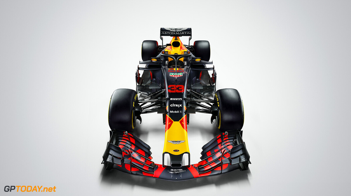 Max Verstappen's (#33) Aston Martin Red Bull Racing TAG-Heuer RB14 seen during the 2018 studio shoot. // David Clerihew/Red Bull Content Pool // AP-1UVT16JE91W11 // Usage for editorial use only // Please go to www.redbullcontentpool.com for further information. //  RB14 (#33)     AP-1UVT16JE91W11