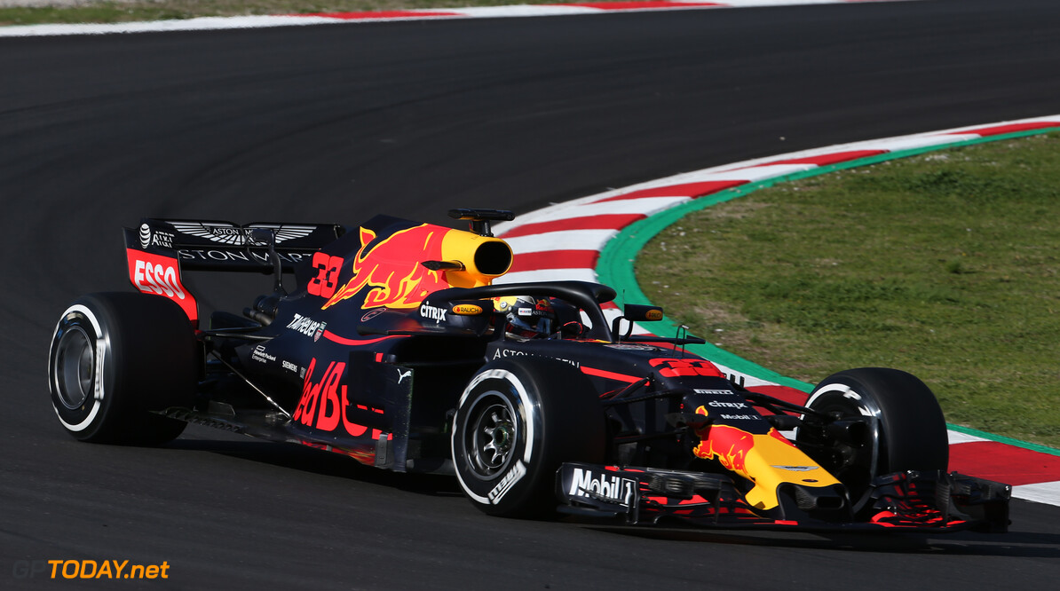 Formula One Testing Max Verstappen (NLD) Red Bull Racing RB14. 06.03.2018. Formula One Testing, Day One, Barcelona, Spain. Tuesday. - www.xpbimages.com, EMail: requests@xpbimages.com - copy of publication required for printed pictures. Every used picture is fee-liable. (C) Copyright: Batchelor / XPB Images Motor Racing - Formula One Testing - Test Two - Day 1 -  Barcelona, Spain xpb.cc Barcelona Spain  Formel1 Formel Testing Test F1 Formula 1 Formula1 one February Spain Barcelona Catalunya 06 6 01 1 2018 Tuesday Action Track angle2018