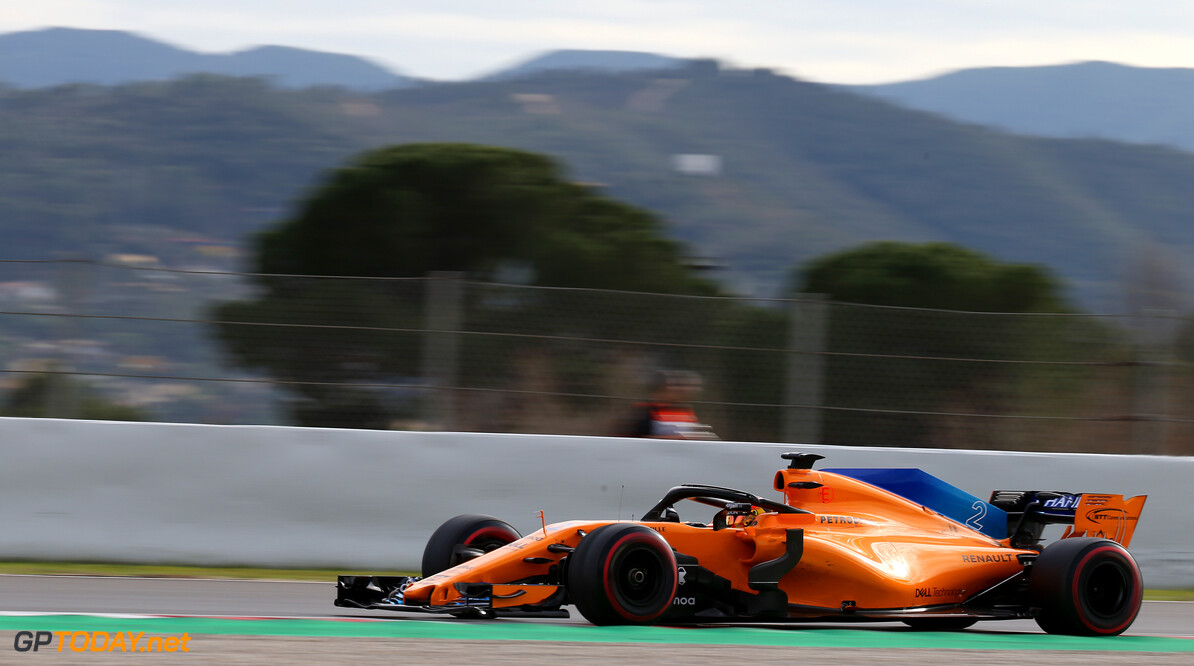 Formula One Testing Stoffel Vandoorne (BEL) McLaren MCL33. 08.03.2018. Formula One Testing, Day Three, Barcelona, Spain. Thursday. - www.xpbimages.com, EMail: requests@xpbimages.com - copy of publication required for printed pictures. Every used picture is fee-liable. (C) Copyright: Batchelor / XPB Images Motor Racing - Formula One Testing - Test Two - Day 3 -  Barcelona, Spain xpb.cc Barcelona Spain  Formel1 Formel Testing Test F1 Formula 1 Formula1 one February Spain Barcelona Catalunya 08 8 01 1 2018 Thursday Action Track