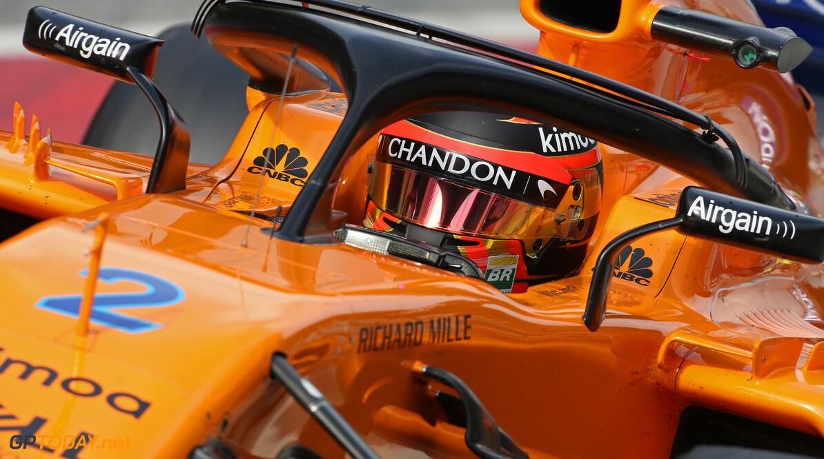 Slippermerk als sponsor op de 'halo' van McLaren