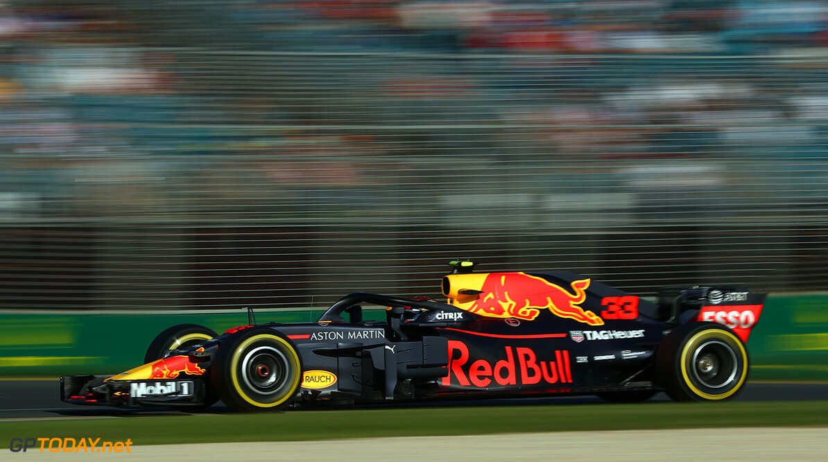 MELBOURNE, AUSTRALIA - MARCH 23: Max Verstappen of the Netherlands driving the (33) Aston Martin Red Bull Racing RB14 TAG Heuer on track during practice for the Australian Formula One Grand Prix at Albert Park on March 23, 2018 in Melbourne, Australia.  (Photo by Robert Cianflone/Getty Images) // Getty Images / Red Bull Content Pool  // AP-1V4U8ASKD2111 // Usage for editorial use only // Please go to www.redbullcontentpool.com for further information. //  Australian F1 Grand Prix - Practice Robert Cianflone Melbourne Australia  AP-1V4U8ASKD2111