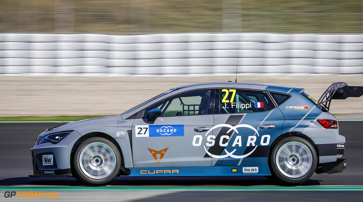 27 FILIPPI John (FRA), Team Oscaro by Campos Racing, Cupra TCR, action during the 2018 FIA WTCR World Touring Car Tests at Barcelone, Spain,  March 28 to 29 - Photo Francois Flamand / DPPI. AUTO - TESTS BARCELONE WTCR - 2018 Francois Flamand Barcelona Espagne  Test espagne touring car championnat du monde