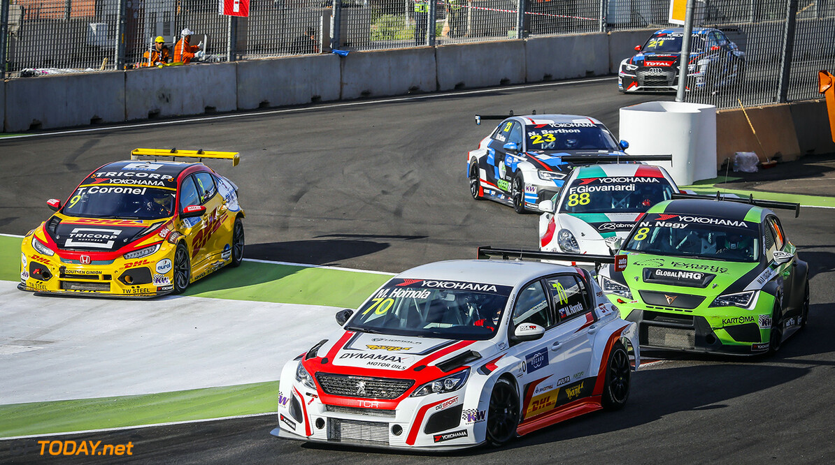 70 HOMOLA Mato (SVK), DG Sport Competition, PEUGEOT 308TCR, action during the 2018 FIA WTCR World Touring Car cup Race of Morocco at Marrakech, from April 7 to 8 - Photo Francois Flamand / DPPI AUTO - WTCR MARRAKECH 2018 Francois Flamand Marrakech Maroc  april auto avril championnat du monde circuit course fia maroc motorsport tourisme wtcr