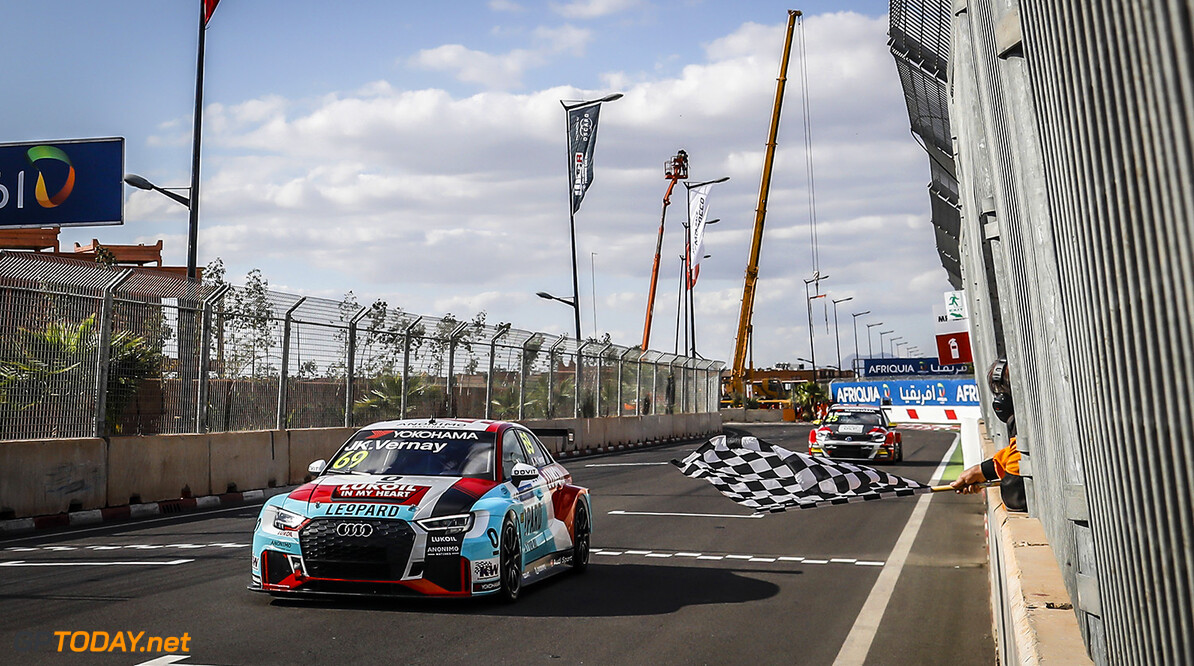 69 VERNAY Jean-Karl (FRA), Audi Sport Leopard Lukoil Team, Audi RS3 LMS, action  during the 2018 FIA WTCR World Touring Car cup Race of Morocco at Marrakech, from April 7 to 8 - Photo Francois Flamand / DPPI AUTO - WTCR MARRAKECH 2018 Francois Flamand Marrakech Maroc  april auto avril championnat du monde circuit course fia maroc motorsport tourisme wtcr