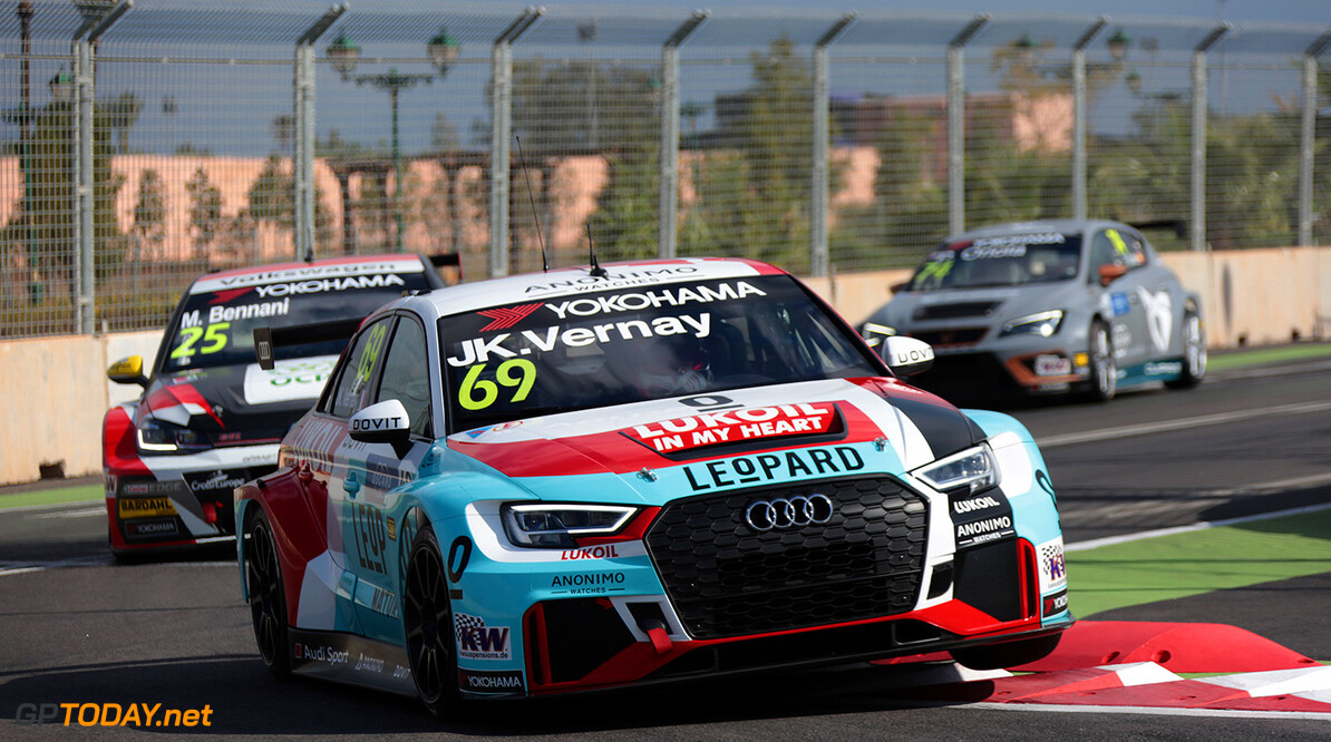 69 VERNAY Jean-Karl (FRA), Audi Sport Leopard Lukoil Team, Audi RS3 LMS, action during the 2018 FIA WTCR World Touring Car  Cup Race of Morocco at Marrakech, from April 7 to 8th - Photo Paulo Maria / DPPI AUTO - WTCR MARRAKECH 2018 Paulo Maria Marrakech Maroc  april auto avril championnat du monde circuit course fia maroc motorsport tourisme wtcr