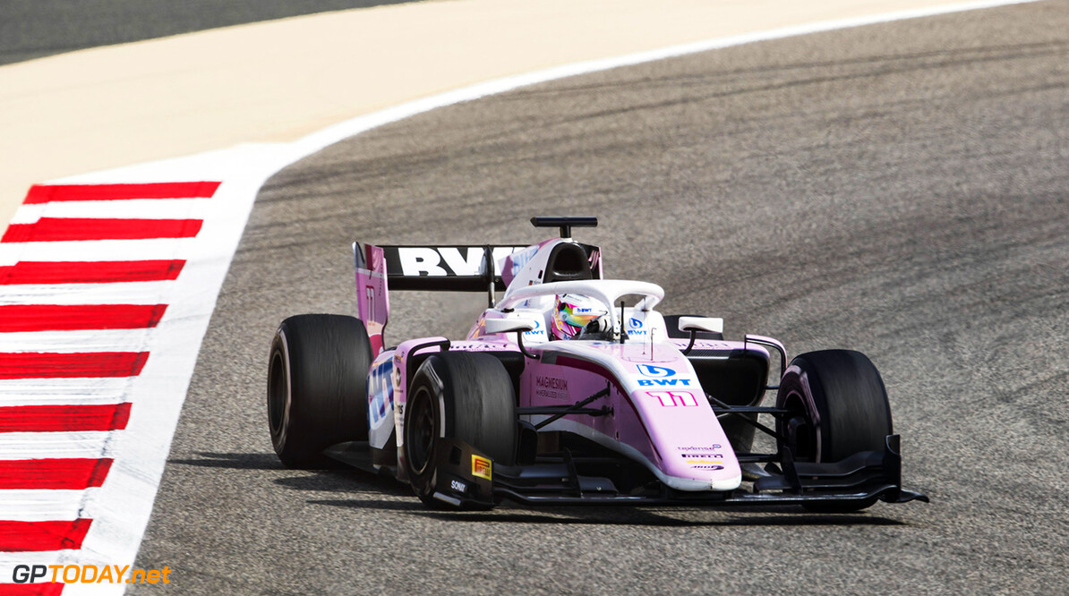 FIA Formula 2 Series - Round 1 Bahrain International Circuit, Sakhir, Bahrain Sunday 8 April 2018. Maximilian Gunther (DEU, BWT Arden).  World Copyright: Zak Mauger/LAT Images ref: Digital Image   Zak Mauger    f2 race two 2 sprint action