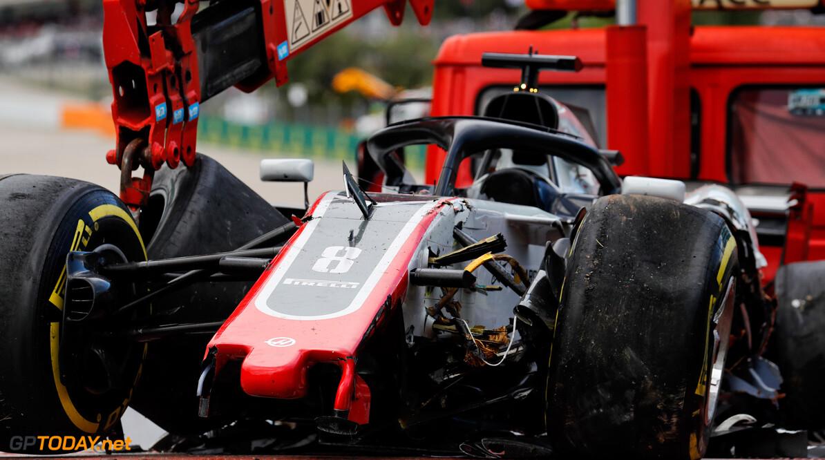 Struggling Grosjean 'happy to stay' at Haas