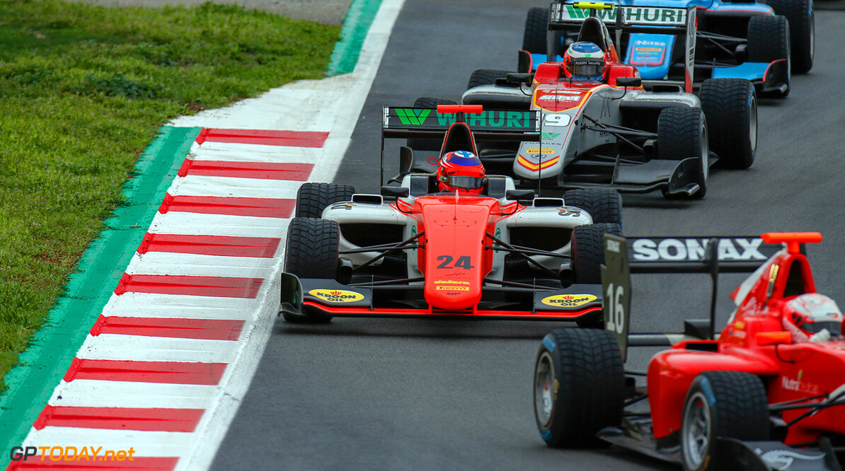 2018 GP3 Series Round 1.  Circuit de Catalunya, Barcelona, Spain. Sunday 13 May 2018. Niko Kari (FIN, MP Motorsport)  Photo: Joe Portlock / GP3 Series Media Service. ref: Digital Image    Joe Portlock    Race Two 2