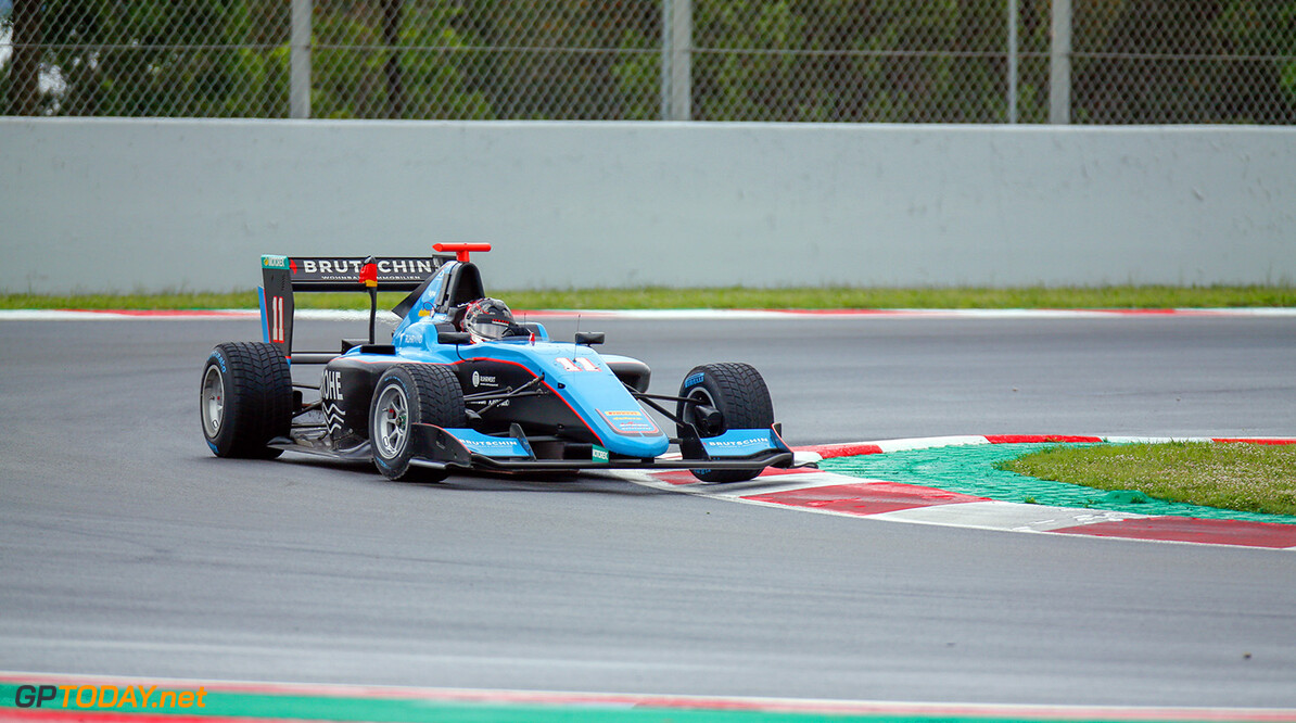 2018 GP3 Series Round 1.  Circuit de Catalunya, Barcelona, Spain. Sunday 13 May 2018. David Beckmann (DEU, Jenzer Motorsport)  Photo: Joe Portlock / GP3 Series Media Service. ref: Digital Image    Joe Portlock    Race Two 2