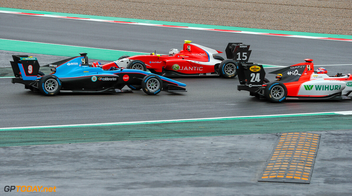 2018 GP3 Series Round 1.  Circuit de Catalunya, Barcelona, Spain. Sunday 13 May 2018. Julien Falchero (FRA, Arden International) Photo: Joe Portlock / GP3 Series Media Service. ref: Digital Image    Joe Portlock    Race Two 2