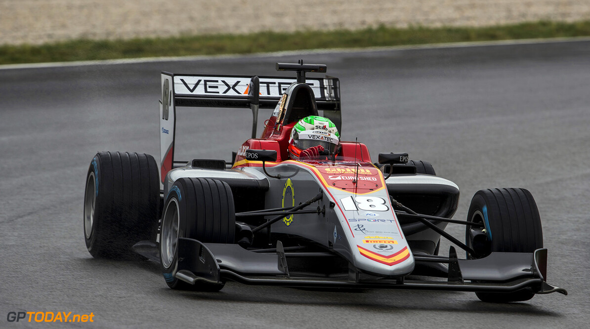 2018 GP3 Series Round 1.  Circuit de Catalunya, Barcelona, Spain. Sunday 13 May 2018. Leonardo Pulcini (ITA, Campos Racing)  Photo: Zak Mauger / GP3 Series Media Service. ref: Digital Image _56I5760   Zak Mauger    Race Two 2 action
