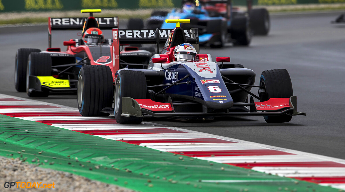 2018 GP3 Series Round 1.  Circuit de Catalunya, Barcelona, Spain. Sunday 13 May 2018. Giuliano Alesi (FRA, Trident)  Photo: Zak Mauger / GP3 Series Media Service. ref: Digital Image _56I5878   Zak Mauger    Race Two 2 action