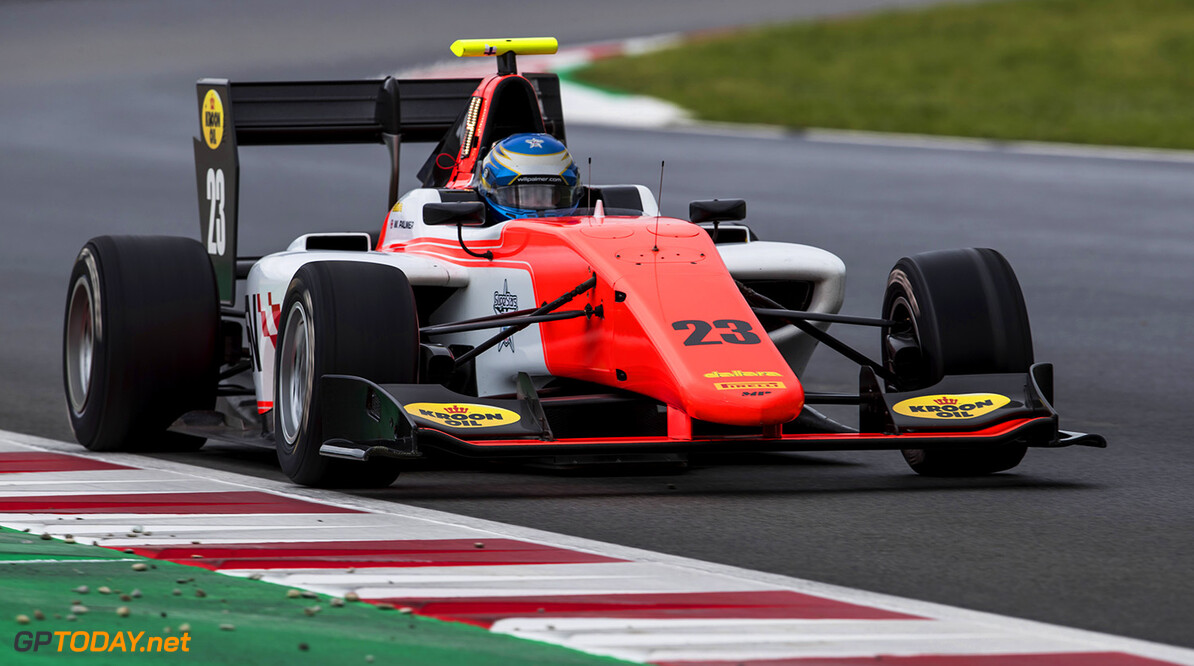 2018 GP3 Series Round 1.  Circuit de Catalunya, Barcelona, Spain. Sunday 13 May 2018. Will Palmer (GBR, MP Motorsport)  Photo: Zak Mauger / GP3 Series Media Service. ref: Digital Image _56I5958   Zak Mauger    Race Two 2 action