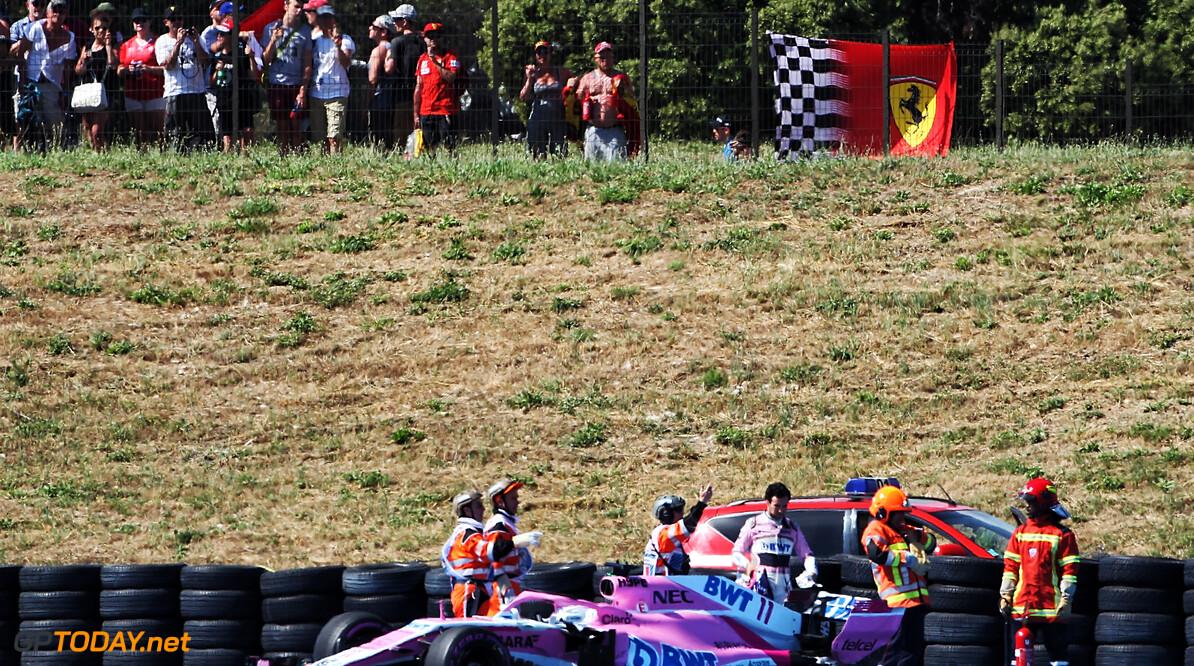 Force India krijgt forse boete voor loszittend wiel bij Perez