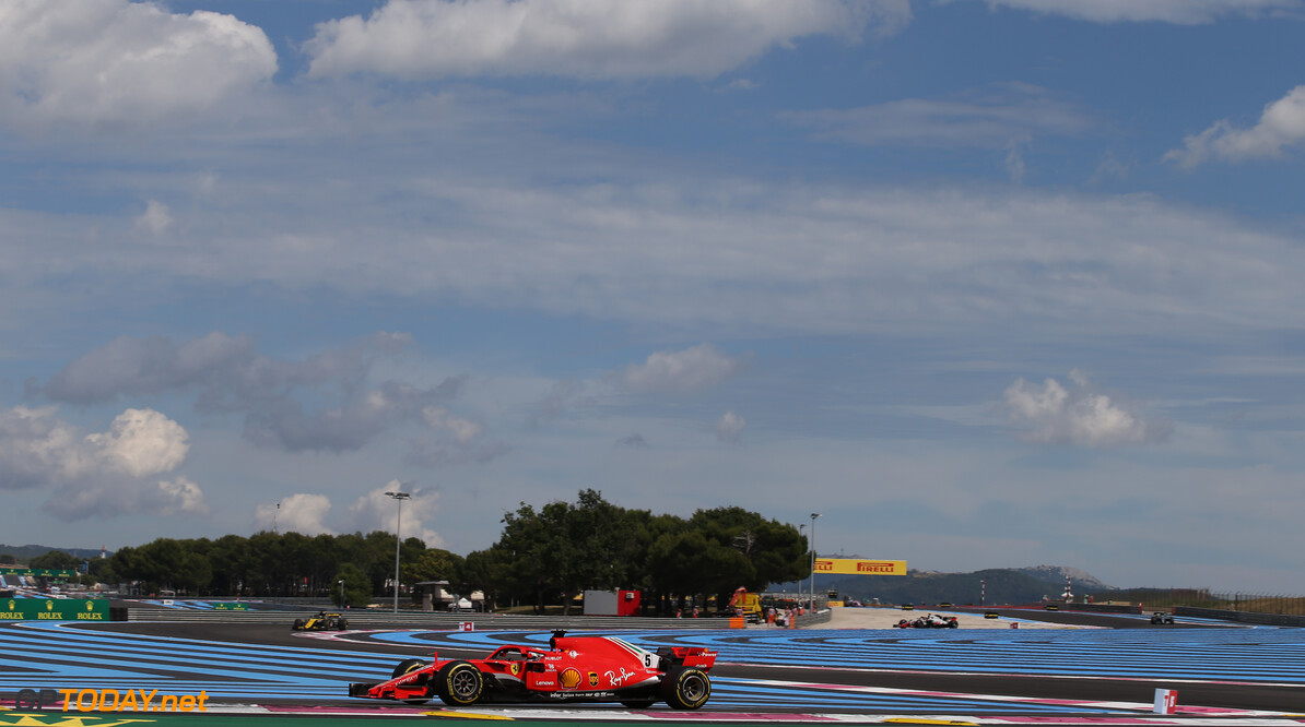 Formula One World Championship Sebastian Vettel (GER) Ferrari SF71H. 24.06.2018. Formula 1 World Championship, Rd 8, French Grand Prix, Paul Ricard, France, Race Day. - www.xpbimages.com, EMail: requests@xpbimages.com - copy of publication required for printed pictures. Every used picture is fee-liable. (C) Copyright: Batchelor / XPB Images Motor Racing - Formula One World Championship - French Grand Prix - Race Day - Paul Ricard, France xpb.cc Le Castellet France  Formel1 Formel F1 Formula 1 Formula1 GP Grand Prix one Sunday June 24 06 6 2018 France French Circuit Paul Ricard Le Castellet Race Action Track