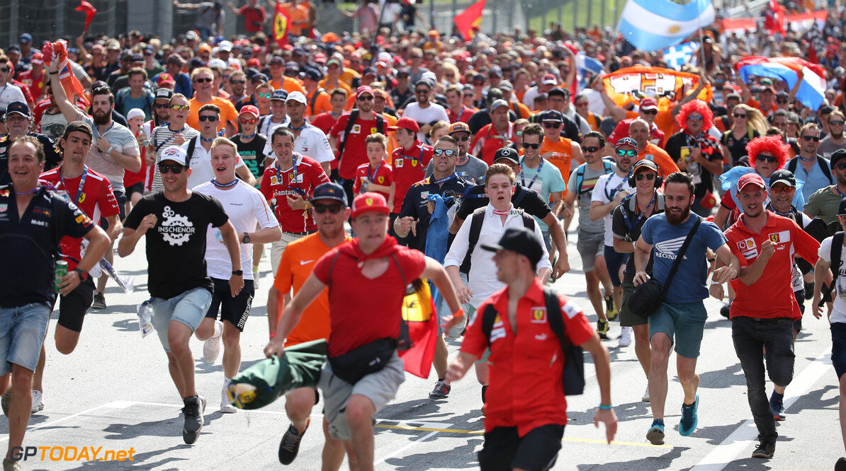 Formula One World Championship Track invasion. 01.07.2018. Formula 1 World Championship, Rd 9, Austrian Grand Prix, Spielberg, Austria, Race Day. - www.xpbimages.com, EMail: requests@xpbimages.com - copy of publication required for printed pictures. Every used picture is fee-liable. (C) Copyright: Batchelor / XPB Images Motor Racing - Formula One World Championship - Austrian Grand Prix - Race Day - Spielberg, Austria xpb.cc Spielberg Austria  Formel1 Formel F1 Formula 1 Formula1 GP Grand Prix one Circuit Austria Austrian Spielberg Zeltweg Sunday July 01 1  07 7 2018 Podium Portrait
