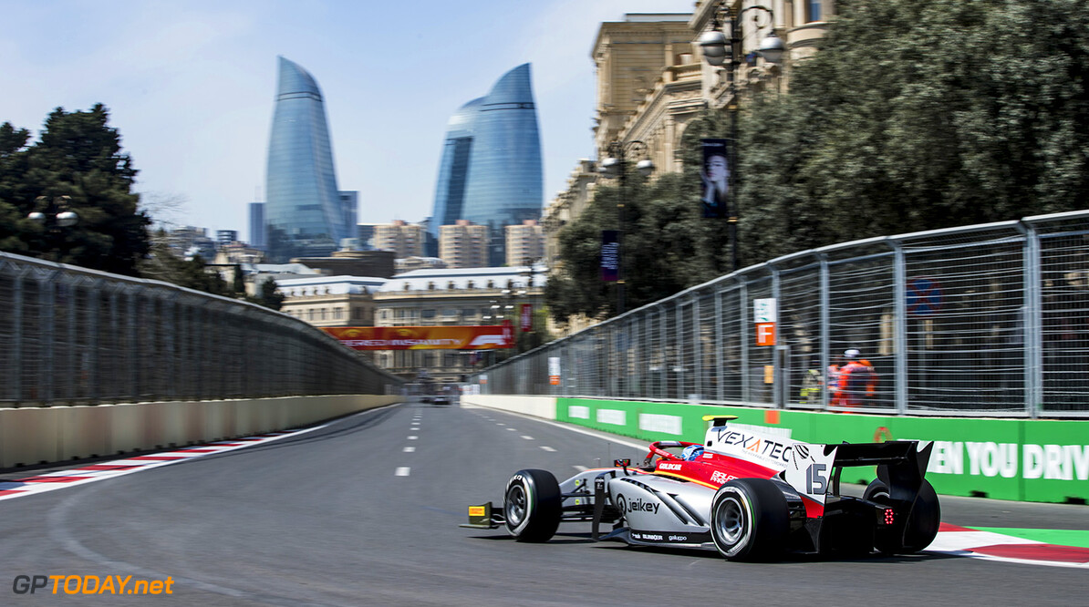 FIA Formula 2 Series - Round 2 Baku City Circuit, Baku, Azerbaijan Friday 27 April 2018 Roy Nissany (ISR, Campos Vexatec Racing).  World Copyright: Zak Mauger/LAT Images ref: Digital Image   Zak Mauger    f2 practice action