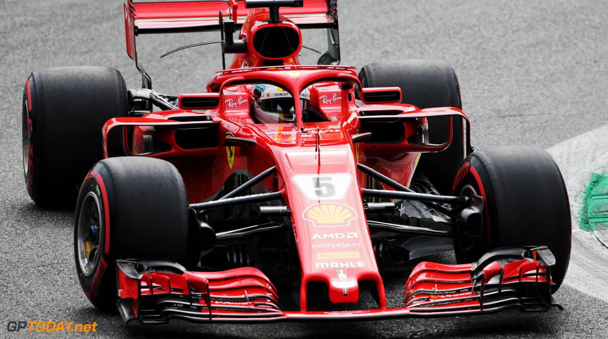 VT3: Sebastian Vettel wederom de snelste, Verstappen geeft acht tienden toe