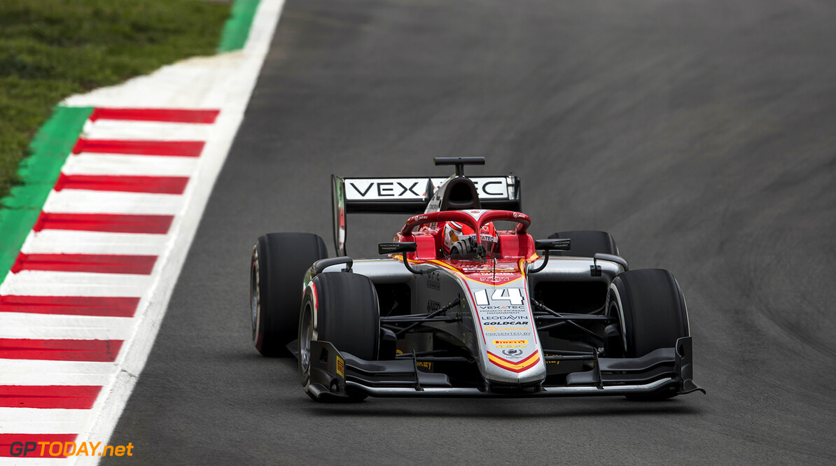 FIA Formula 2 Series - Round 3. Circuit de Catalunya, Barcelona, Spain. Sunday 13 May 2018. Luca Ghiotto (ITA, Campos Vexatec Racing).  World Copyright: Zak Mauger / FIA Formula 2. ref: Digital Image   Zak Mauger    f2 race two 2 sprint action