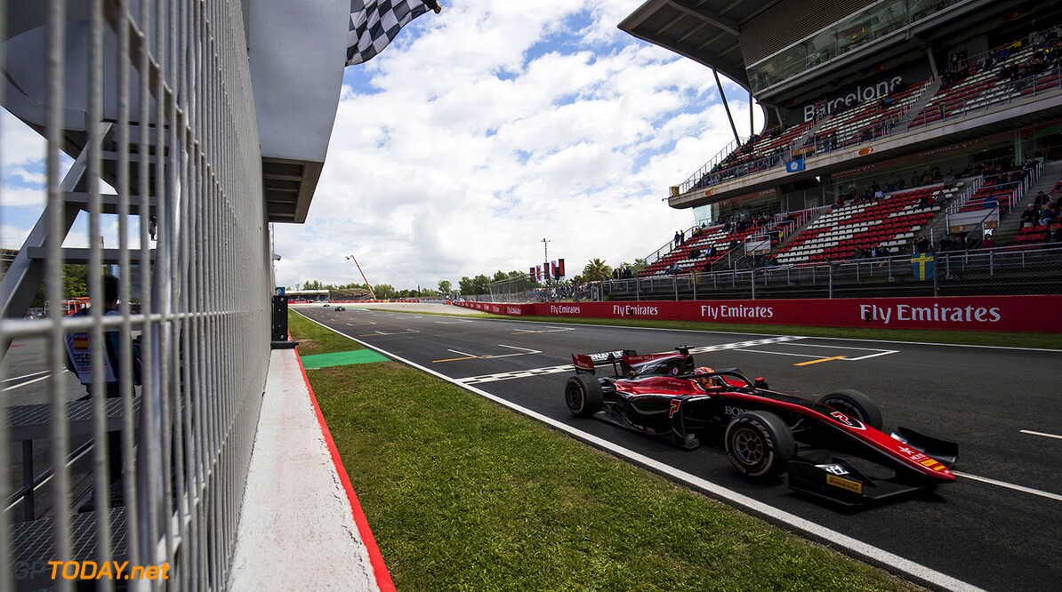 FIA Formula 2 Series - Round 3. Circuit de Catalunya, Barcelona, Spain. Sunday 13 May 2018. Jack Aitken (GBR, ART Grand Prix).  World Copyright: Zak Mauger / FIA Formula 2. ref: Digital Image   Zak Mauger    f2 race two 2 sprint action