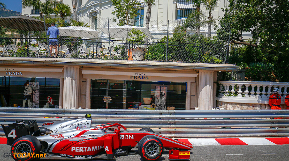 FIA Formula 2 Series - Round 4.  Monte Carlo, Monaco.  Friday 25 May 2018.  Nyck De Vries (NLD, PERTAMINA PREMA Theodore Racing).  World Copyright: Joe Portlock / FIA Formula 2.  ref: Digital Image   Joe Portlock    f2 Race 1 Race Action