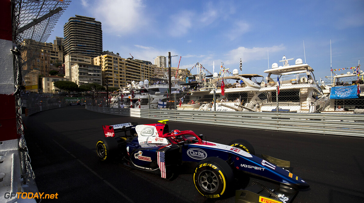 FIA Formula 2 Series - Round 4. Monte Carlo, Monaco. Saturday 26 May 2018. Santino Ferrucci (USA, Trident).  World Copyright: Zak Mauger / FIA Formula 2. ref: Digital Image   Zak Mauger    f2 race two 2 sprint action