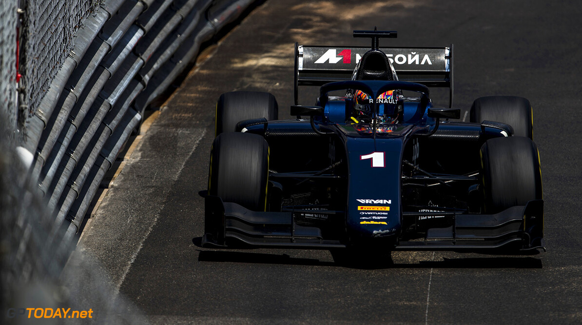 FIA Formula 2 Series - Round 4. Monte Carlo, Monaco. Friday 25 May 2018. Artem Markelov (RUS, RUSSIAN TIME).  World Copyright: Zak Mauger / FIA Formula 2. ref: Digital Image   Zak Mauger    f2 race one 1 feature action