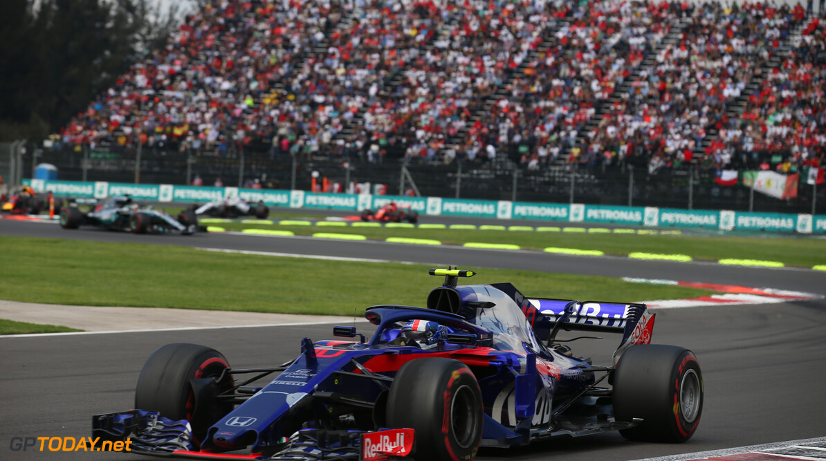 Formula One World Championship Pierre Gasly (FRA) Scuderia Toro Rosso. 28.10.2018. Formula 1 World Championship, Rd 19, Mexican Grand Prix, Mexico City, Mexico, Race Day. - www.xpbimages.com, EMail: requests@xpbimages.com - copy of publication required for printed pictures. Every used picture is fee-liable. (C) Copyright: Batchelor / XPB Images Motor Racing - Formula One World Championship - Mexican Grand Prix - Race Day - Mexico City, Mexico XPB Images Mexico City Mexico  Formel1 Formel F1 Formula 1 Formula1 GP Grand Prix Mexico Mexico City Mexican Autodromo Hermanos Sunday October 28 10 2018 Race Action Track