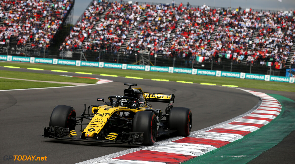 Formula One World Championship Nico Hulkenberg (GER) Renault Sport F1 Team RS18. 28.10.2018. Formula 1 World Championship, Rd 19, Mexican Grand Prix, Mexico City, Mexico, Race Day. - www.xpbimages.com, EMail: requests@xpbimages.com - copy of publication required for printed pictures. Every used picture is fee-liable. (C) Copyright: Batchelor / XPB Images Motor Racing - Formula One World Championship - Mexican Grand Prix - Race Day - Mexico City, Mexico XPB Images Mexico City Mexico  Formel1 Formel F1 Formula 1 Formula1 GP Grand Prix Mexico Mexico City Mexican Autodromo Hermanos Sunday October 28 10 2018 Race Action Track