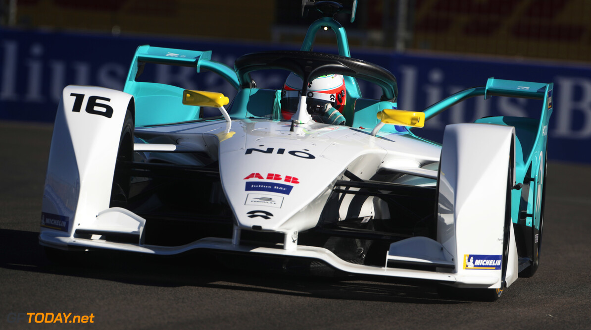 2018 Marrakesh E-prix CIRCUIT INTERNATIONAL AUTOMOBILE MOULAY EL HASSAN, MOROCCO - JANUARY 11: Oliver Turvey (GBR), NIO Formula E Team, NIO Sport 004 during the Marrakesh E-prix at Circuit International Automobile Moulay El Hassan on January 11, 2019 in Circuit International Automobile Moulay El Hassan, Morocco. (Photo by Alastair Staley / LAT Images) 2018 Marrakesh E-prix Alastair Staley  Morocco  action ts-live electric fe