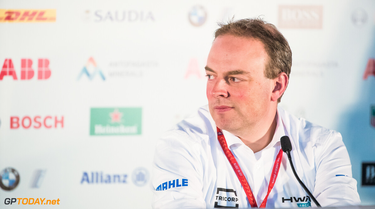 2018 Santiago E-prix PARQUE O'HIGGINS CIRCUIT, CHILE - JANUARY 25: Ulrich Fritz, CEO of HWA AG in the press conference during the Santiago E-prix at Parque O'Higgins Circuit on January 25, 2019 in Parque O'Higgins Circuit, Chile. (Photo by Sam Bloxham) 2018 Santiago E-prix Sam Bloxham  Chile  portrait electric fe