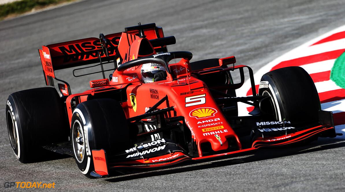 """Vettel heel blij na eerste dag: """"De auto was ongelooflijk en naderde perfectie"""""""