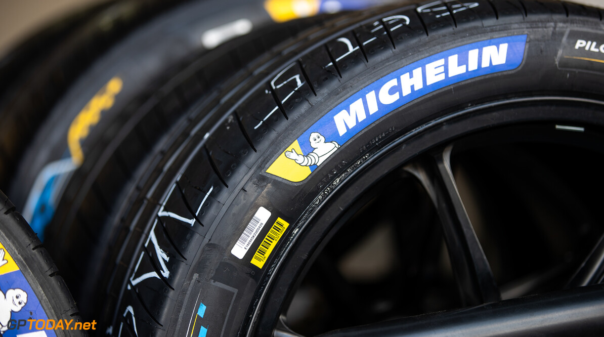 2019 Mexico City E-prix AUTODROMO HERMANOS RODRIGUEZ, MEXICO - FEBRUARY 14: Michelin tires during the Mexico City E-prix at Autodromo Hermanos Rodriguez on February 14, 2019 in Autodromo Hermanos Rodriguez, Mexico. (Photo by Joe Portlock / LAT Images) 2019 Mexico City E-prix Joe Portlock  Mexico  electric FE open wheel