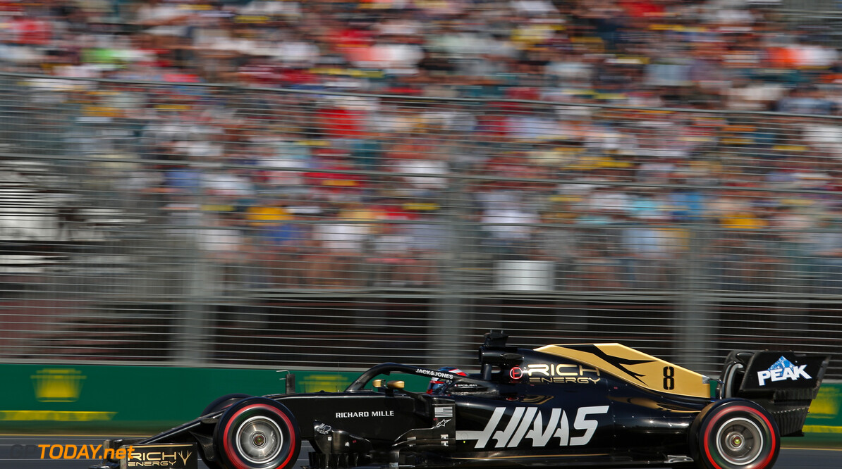 Romain Grosjean (FRA), Haas F1 Team  16.03.2019. Formula 1 World Championship, Rd 1, Australian Grand Prix, Albert Park, Melbourne, Australia, Qualifying Day. - www.xpbimages.com, EMail: requests@xpbimages.com - copy of publication required for printed pictures. Every used picture is fee-liable. (C) Copyright: Charniaux / XPB Images Motor Racing - Formula One World Championship - Australian Grand Prix - Qualifying Day - Melbourne, Australia     Formel1 Formel F1 Formula 1 Formula1 GP Grand Prix one March Australian Australia Albert Park Melbourne Oz Saturday 16 03 3 2019 Practice Action Track