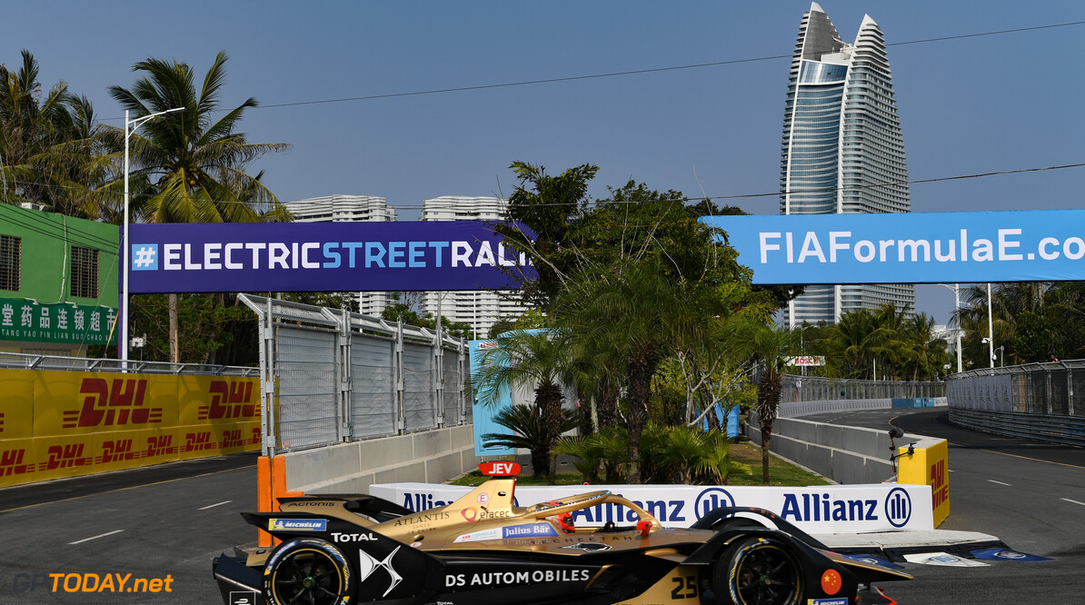 2019 Sanya E-prix SANYA STREET CIRCUIT, CHINA - MARCH 22: Jean-Eric Vergne (FRA), DS TECHEETAH, DS E-Tense FE19 during the Sanya E-prix at Sanya Street Circuit on March 22, 2019 in Sanya Street Circuit, China. (Photo by Sam Bagnall / LAT Images) 2019 Sanya E-prix Sam Bagnall  China  action electric FE open wheel