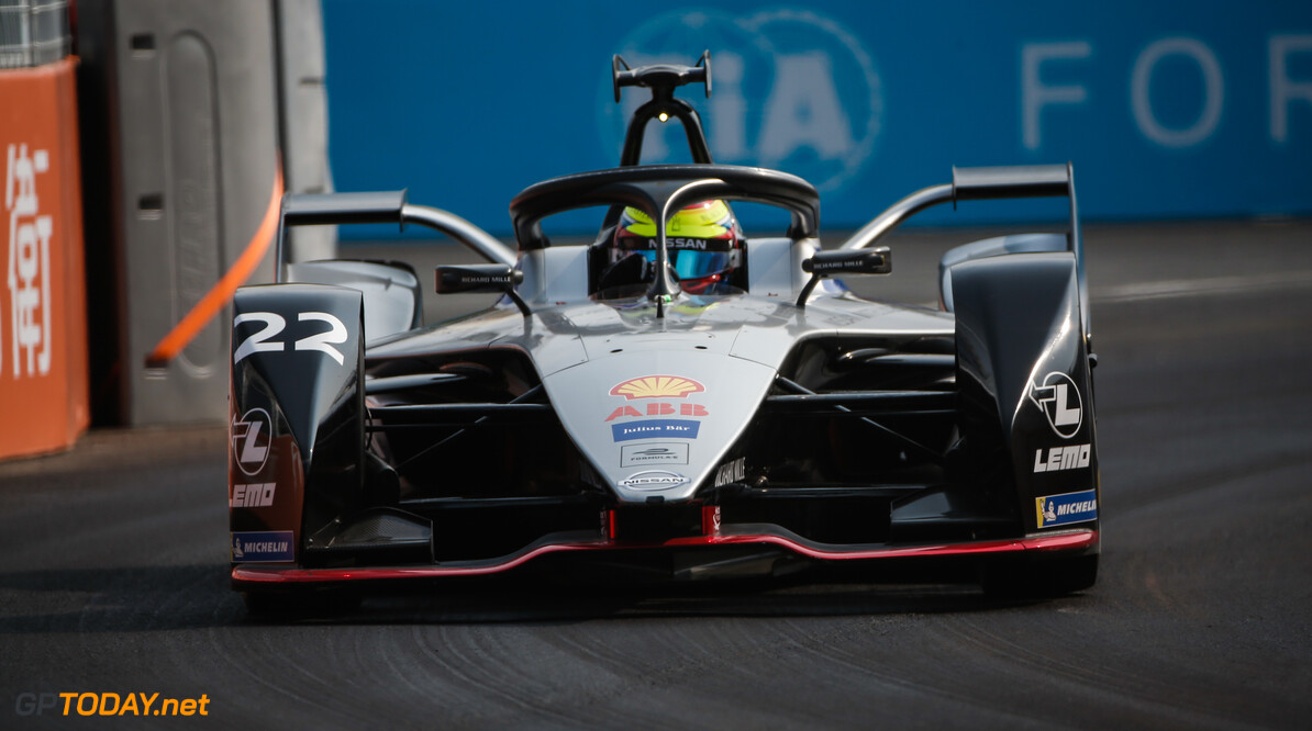 2019 Sanya E-prix SANYA STREET CIRCUIT, CHINA - MARCH 22: Oliver Rowland (GBR), Nissan e.Dams, Nissan IMO1 during the Sanya E-prix at Sanya Street Circuit on March 22, 2019 in Sanya Street Circuit, China. (Photo by Joe Portlock / LAT Images) 2019 Sanya E-prix Joe Portlock  China  action electric FE open wheel