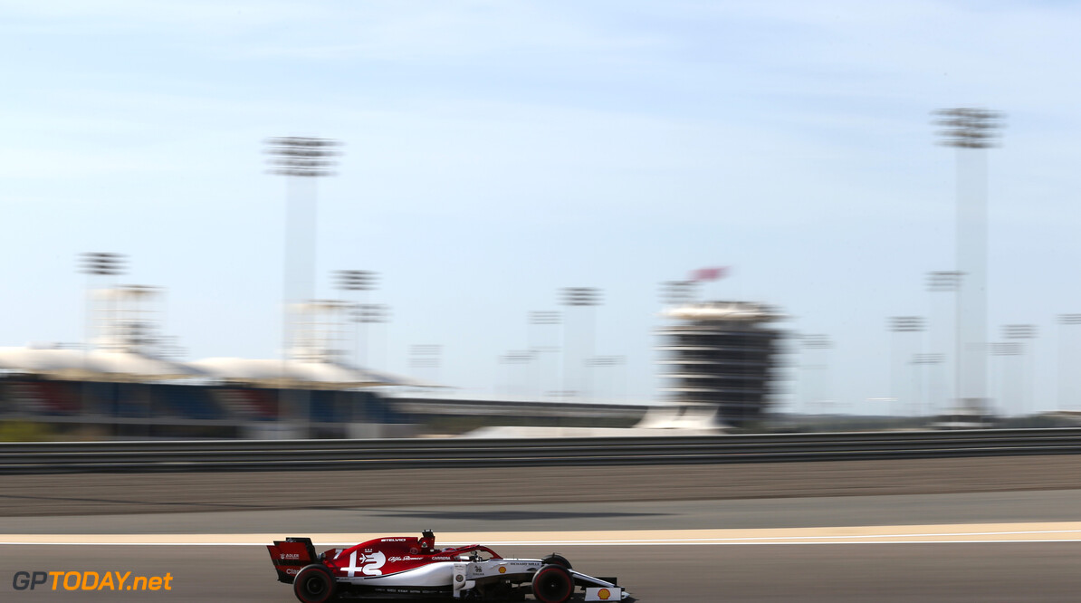 Kimi Raikkonen (FIN), Alfa Romeo Racing  29.03.2019. Formula 1 World Championship, Rd 2, Bahrain Grand Prix, Sakhir, Bahrain, Practice Day - www.xpbimages.com, EMail: requests@xpbimages.com - copy of publication required for printed pictures. Every used picture is fee-liable. (C) Copyright: Charniaux / XPB Images Motor Racing - Formula One World Championship - Bahrain Grand Prix - Practice Day - Sakhir, Bahrain     Formel1 Formel F1 Formula 1 Formula1 GP Grand Prix one Bahrain International Circuit BIC Manama Bahrain Sakhir Friday March Action track 29 03 3 2019