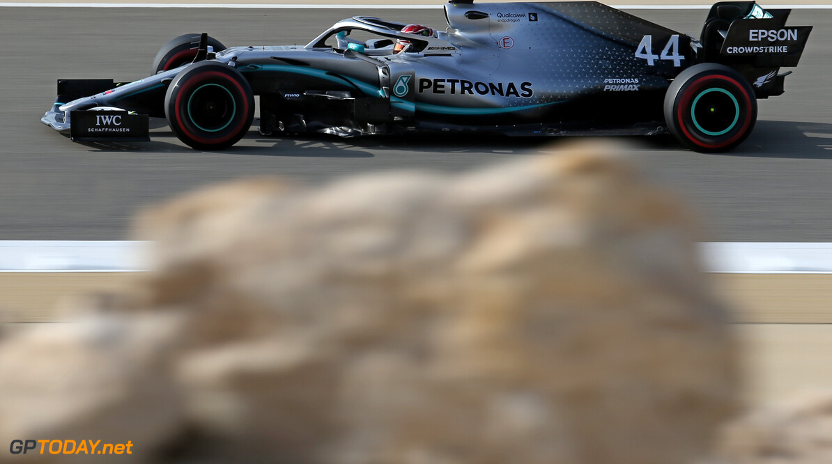 Formula One World Championship Lewis Hamilton (GBR), Mercedes AMG F1   30.03.2019. Formula 1 World Championship, Rd 2, Bahrain Grand Prix, Sakhir, Bahrain, Qualifying Day. - www.xpbimages.com, EMail: requests@xpbimages.com - copy of publication required for printed pictures. Every used picture is fee-liable. (C) Copyright: Charniaux / XPB Images Motor Racing - Formula One World Championship - Bahrain Grand Prix - Qualifying Day - Sakhir, Bahrain xpbimages.com Sakhir Bahrain  Formel1 Formel F1 Formula 1 Formula1 GP Grand Prix one Bahrain International Circuit BIC Manama Bahrain Sakhir Saturday March 30 03 3 2019 Practice Action Track