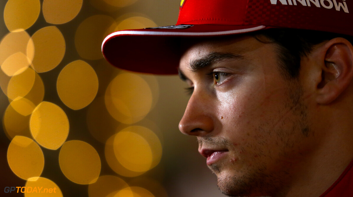 Formula One World Championship Charles Leclerc (FRA), Scuderia Ferrari  30.03.2019. Formula 1 World Championship, Rd 2, Bahrain Grand Prix, Sakhir, Bahrain, Qualifying Day. - www.xpbimages.com, EMail: requests@xpbimages.com - copy of publication required for printed pictures. Every used picture is fee-liable. (C) Copyright: Charniaux / XPB Images Motor Racing - Formula One World Championship - Bahrain Grand Prix - Qualifying Day - Sakhir, Bahrain xpbimages.com Sakhir Bahrain  Formel1 Formel F1 Formula 1 Formula1 GP Grand Prix one Bahrain International Circuit BIC Manama Bahrain Sakhir Saturday March 30 03 3 2019 Qualifying Portrait